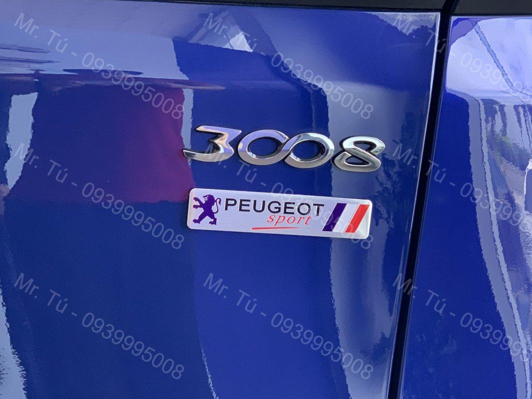 Tem xe logo Peugeot