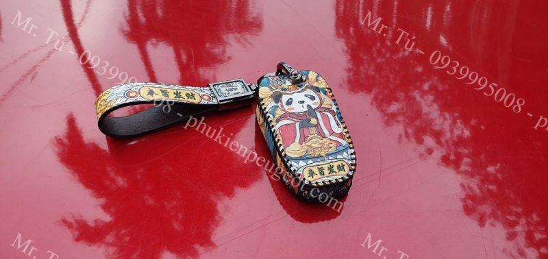 Bao da cao cấp chìa khóa Peugeot